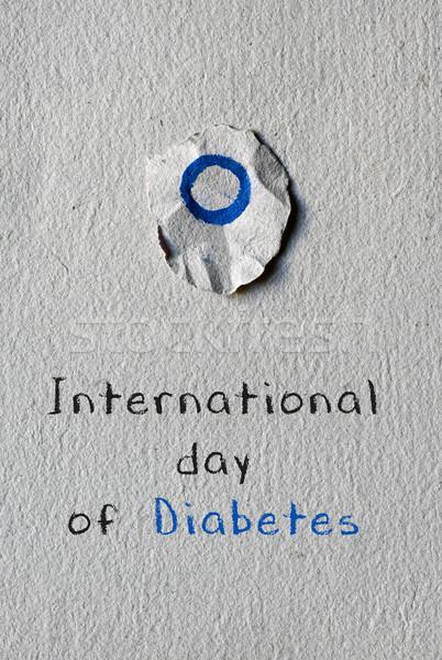 文字 国際 日 糖尿病 青 サークル ストックフォト © nito