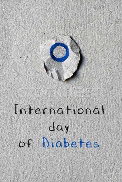 Texte internationaux jour diabète bleu cercle Photo stock © nito