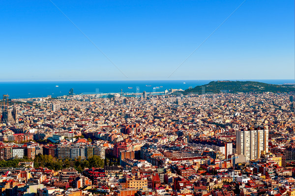 Barcelona İspanya tepe doğru Stok fotoğraf © nito