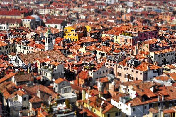 Venice roofs, in Italy, with tilt shift lens effect Stock photo © nito