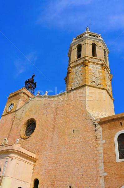 Church of Sant Bartomeu i Santa Tecla Sitges, Spain Stock photo © nito