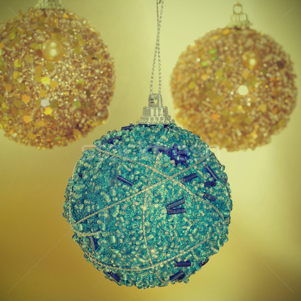 christmas ball with a retro effect Stock photo © nito