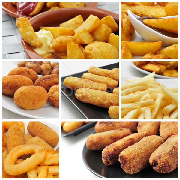 fried food collage Stock photo © nito