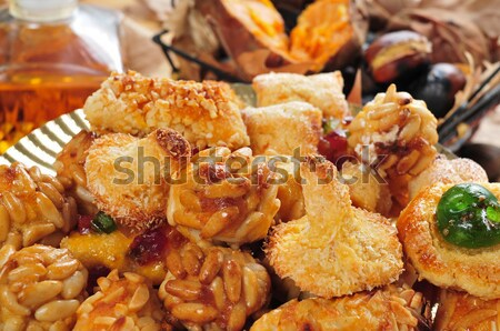 panellets, a typical pastry of Catalonia, Spain, in All Saints h Stock photo © nito