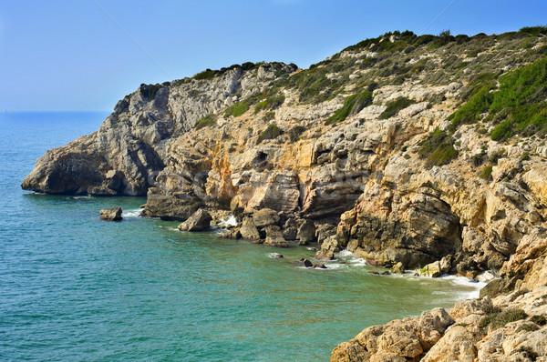 Déli part Spanyolország kilátás tenger hullámok Stock fotó © nito