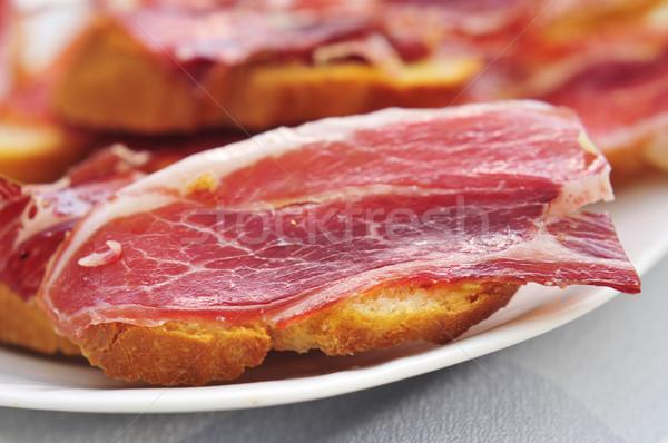 Serrano jambon tapas tranches pain espagnol Photo stock © nito
