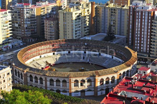 La Malagueta Bullring in Malaga, Spain Stock photo © nito