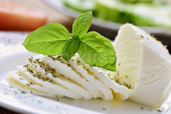 sliced fresh cheese Stock photo © nito