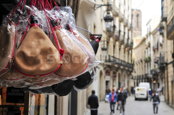 typical spanish bota bags on sale in Barcelona, Spain Stock photo © nito