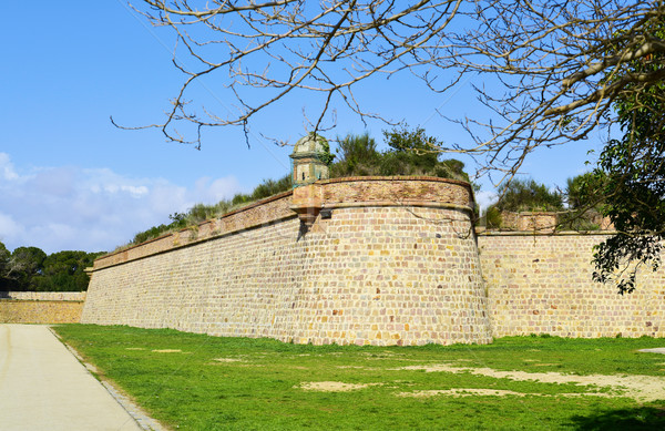 Montjuic Castle in Barcelona, Spain Stock photo © nito