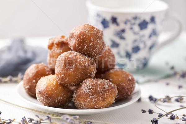 bunyols de Quaresma, Catalan pastries eaten in Lent Stock photo © nito