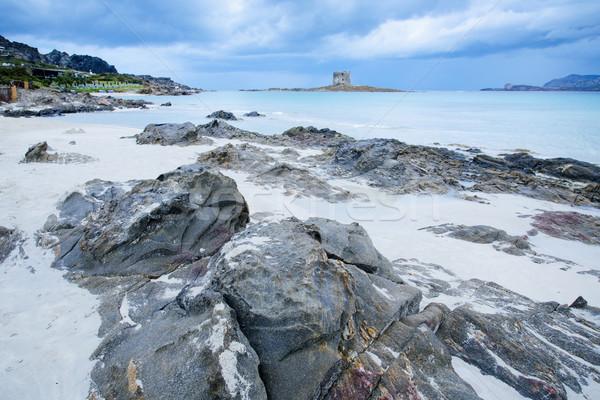 Spiaggia della Pelosa beach in Sardinia, Italy Stock photo © nito
