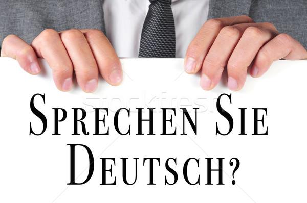 sprechen sie deutsch? do you speak german? written in german Stock photo © nito