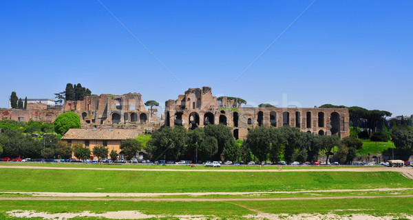 Ruins of the Domus Augustana on Palatine Hill in Rome, Italy Stock photo © nito