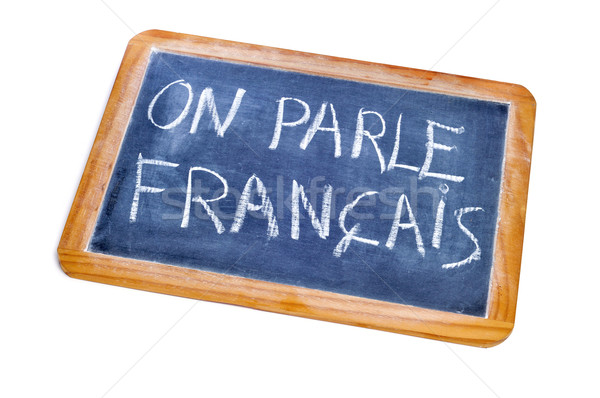 french is spoken Stock photo © nito