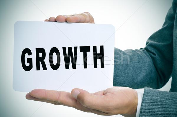 бизнесмен текста роста молодые написанный Сток-фото © nito