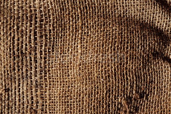 Vieux toile de jute tissu texture Photo stock © nito