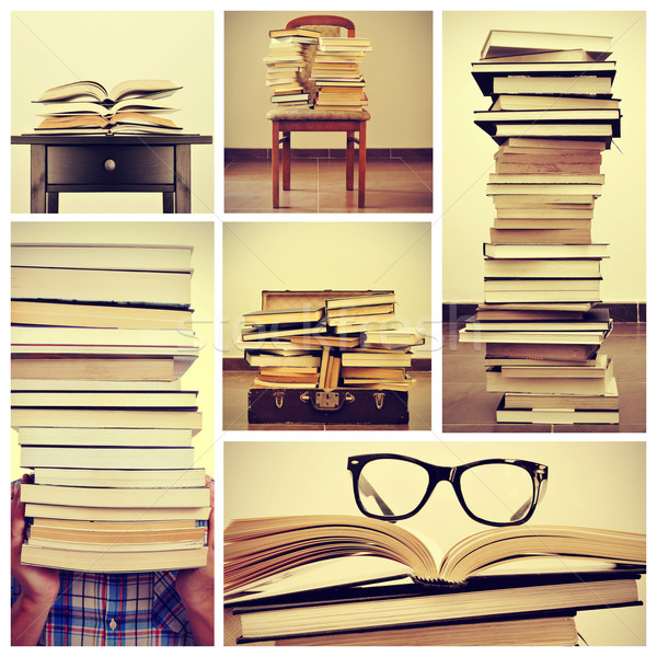 collage of pictures of books Stock photo © nito