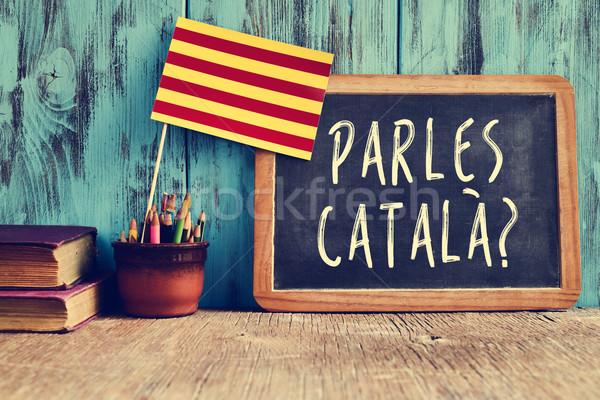 question parles catala? do you speak Catalan? Stock photo © nito