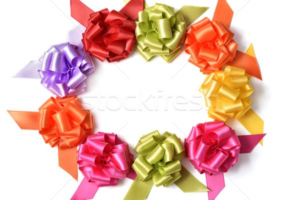 gift ribbon bows forming a circle Stock photo © nito