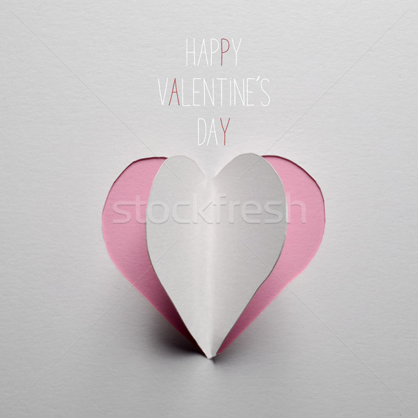 paper heart and text happy valentines day Stock photo © nito