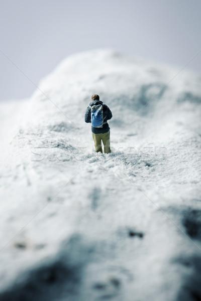 Miniatura paisaje montana invierno tiempo nieve Foto stock © nito