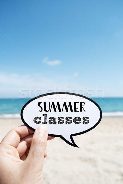 text summer classes, on the beach Stock photo © nito