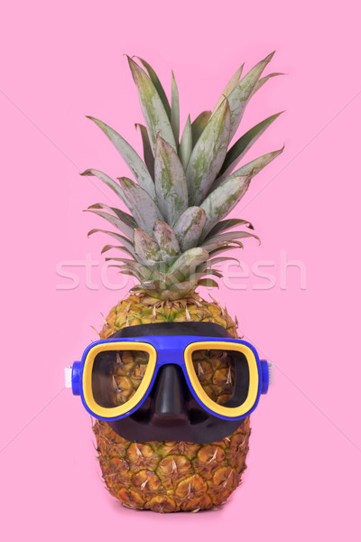 pineapple with a diving mask Stock photo © nito