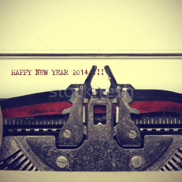 Stock photo: happy new year 2014