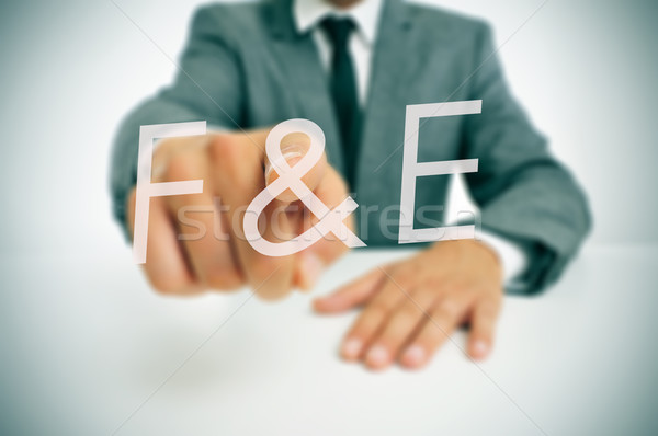 F and E, forschung und entwicklung, research and development in  Stock photo © nito