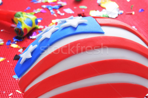 cupcake decorated as the United States flag Stock photo © nito