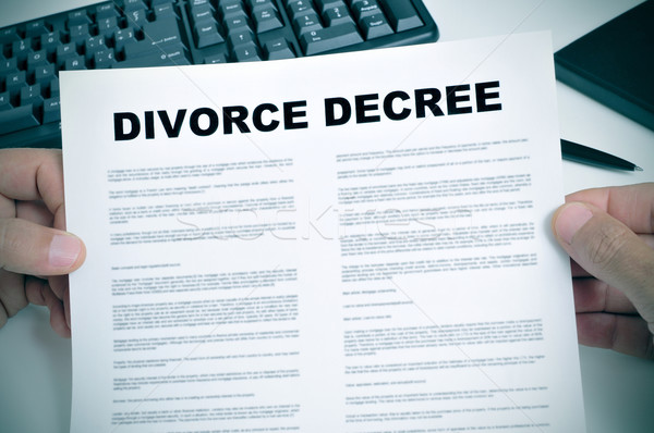 divorce decree Stock photo © nito