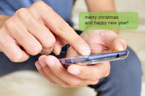 merry christmas and happy new year Stock photo © nito