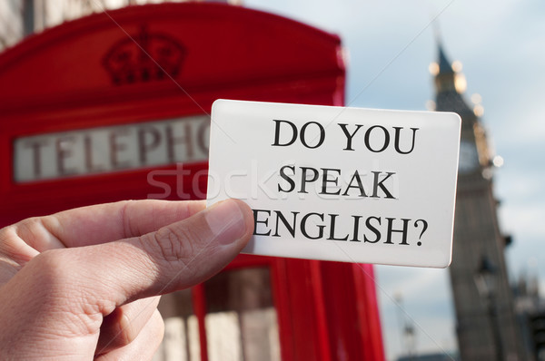 Parler anglais Big Ben homme texte Photo stock © nito