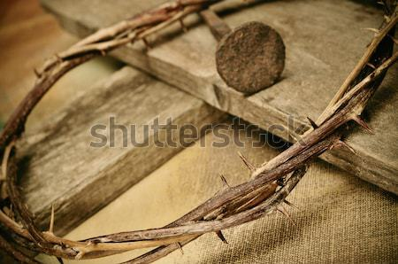 double exposure of the Passion of the Christ Stock photo © nito
