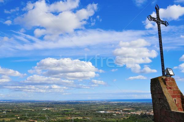 aerial view of Costa Daurada Stock photo © nito