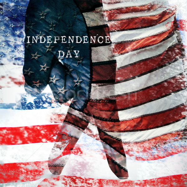 text independence day and the flag of the United States Stock photo © nito