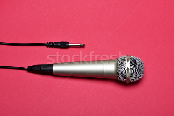microphone on a red background Stock photo © nito
