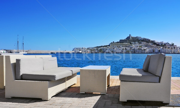 Stock photo: Sa Penya and Dalt Vila districts in Ibiza Town, Spain