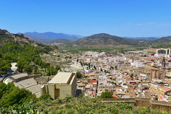 aerial view of Sagunto, Spain Stock photo © nito