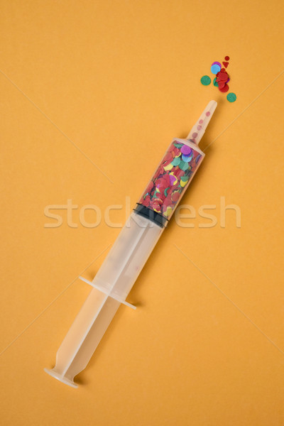 紙吹雪 シリンジ オレンジ 表示 フル 空白 ストックフォト © nito
