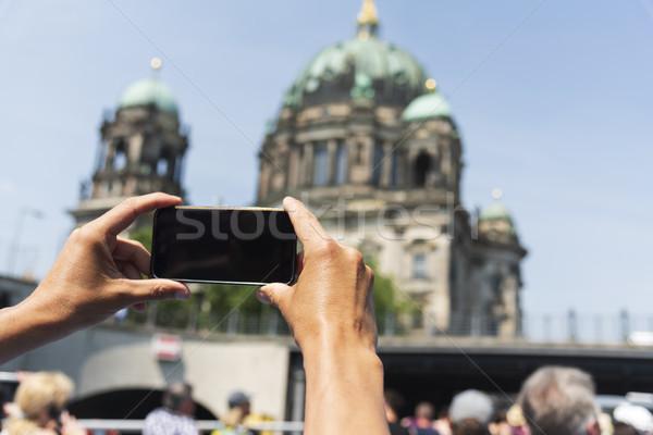Homem quadro Berlim catedral Foto stock © nito