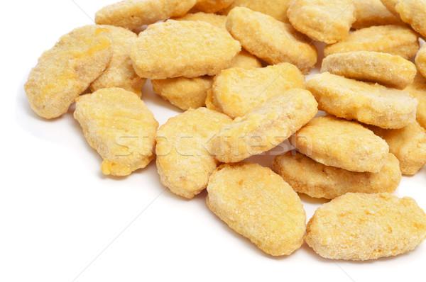 Kip voedsel achtergrond vet eten Stockfoto © nito