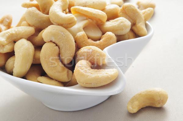 Kom gezouten ingesteld tabel voedsel Stockfoto © nito