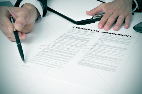 prenuptial agreement Stock photo © nito