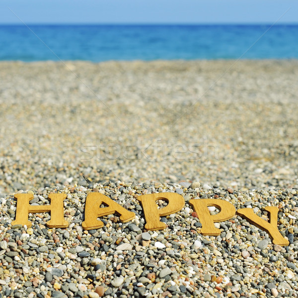 happy on the beach, with a filter effect Stock photo © nito