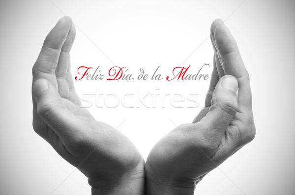 La hiszpanski ręce kubek strony Zdjęcia stock © nito