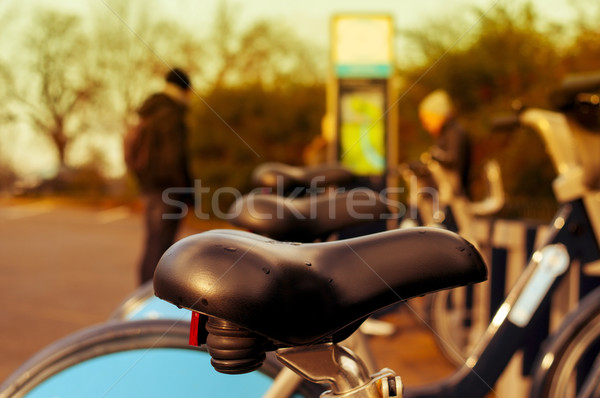 bicycle hire in Hyde Park in London, United Kingdom Stock photo © nito