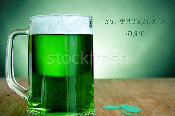 聖パトリックの日 ガラス マグ 緑 ビール ストックフォト © nito