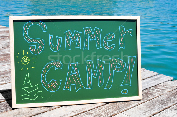 text summer camp written in a chalkboard Stock photo © nito